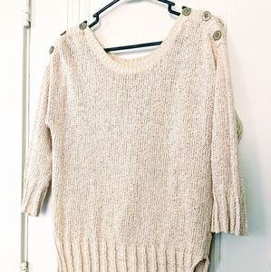 Soft and comfy Lucky Brand tan sweater